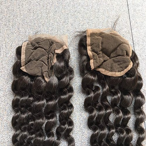 Deep Curly Hair Closures - Free Part- lace side