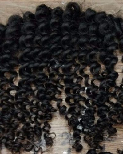Deep curly lace frontal closure