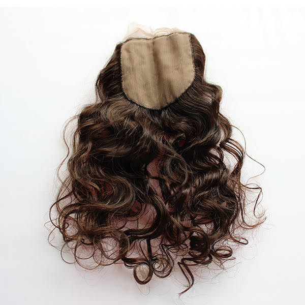 Deep Wave Human Hair closure up close