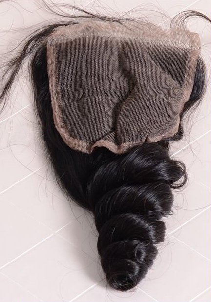loose wave closure lace side
