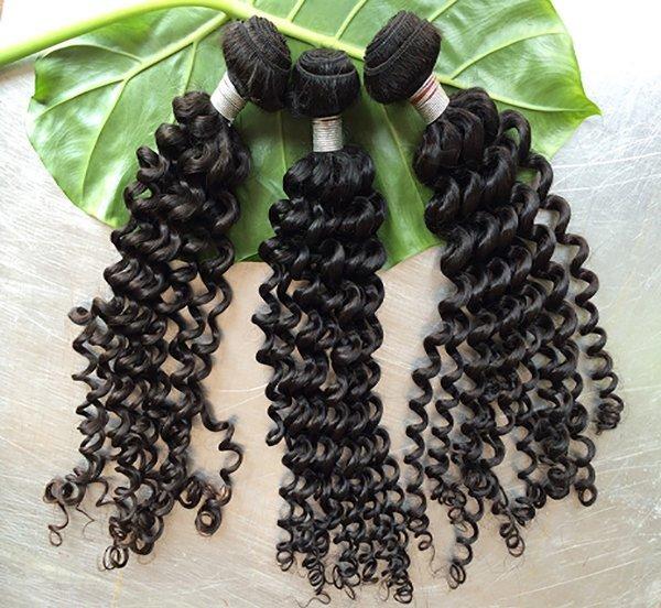 Indian Deep Curly Human Hair Bundles