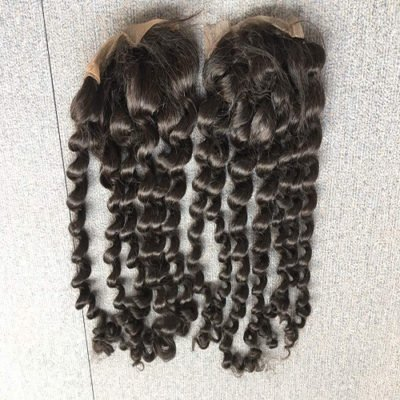 Deep Curly Hair Closures - Free Part