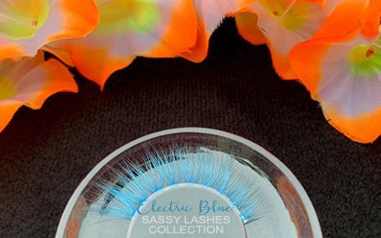 Neon Blue Lashes